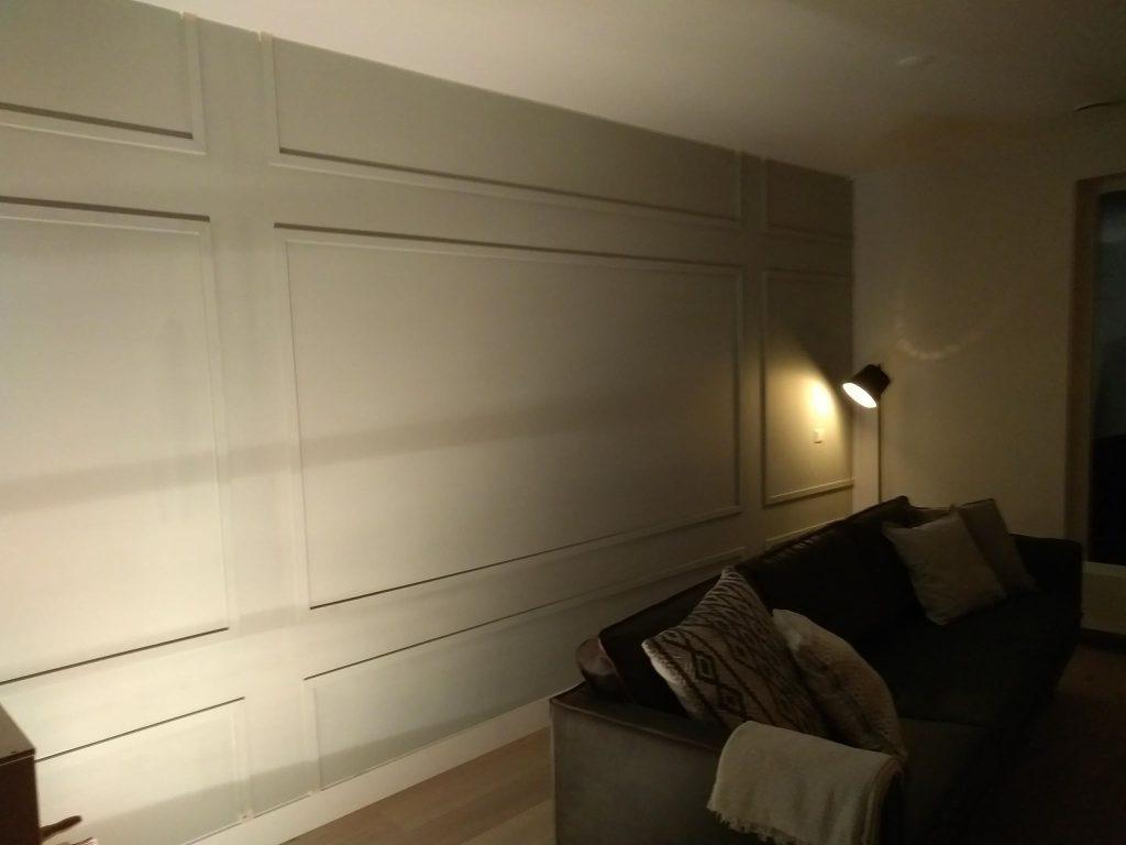 Klusbedrijf ontwerpt een feature wall voor u